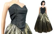 Black And Gold Prom Dresses  22 Background Wallpaper