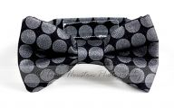 Black And Silver Bow Tie  7 Background Wallpaper