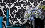 Black And Silver Damask Wallpaper  1 Background
