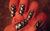 Black And Silver Nails  4 Background