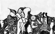 Black And White Drawings  14 Desktop Wallpaper