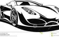Black And White Exotic Cars  4 High Resolution Wallpaper