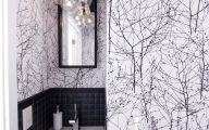 Black And White Wallpaper For Bathroom 21 Background Wallpaper