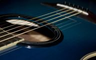 Blue And Black Acoustic Guitar  14 Hd Wallpaper