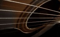 Blue And Black Acoustic Guitar  16 Widescreen Wallpaper