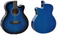 Blue And Black Acoustic Guitar  17 Hd Wallpaper