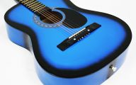 Blue And Black Acoustic Guitar  21 Wide Wallpaper