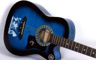 Blue And Black Acoustic Guitar  33 Background Wallpaper