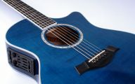 Blue And Black Acoustic Guitar  38 High Resolution Wallpaper