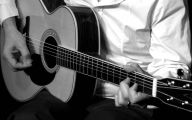 Blue And Black Acoustic Guitar  39 Cool Hd Wallpaper