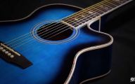 Blue And Black Acoustic Guitar  41 Free Wallpaper