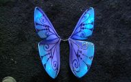 Blue And Black Butterfly  32 Background Wallpaper