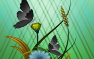 Green And Black Butterfly  32 Background Wallpaper