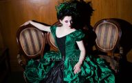 Green And Black Dress  5 Background Wallpaper