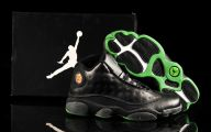 Green And Black Jordans  12 Background
