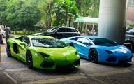 Green And Black Lamborghini  16 Wide Wallpaper