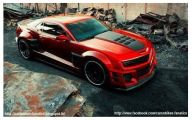 Red And Black Muscle Cars  35 Desktop Wallpaper