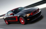 Red And Black Mustang Cars  11 Background Wallpaper