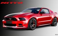 Red And Black Mustang Cars  14 Hd Wallpaper