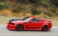 Red And Black Mustang Cars  2 Background
