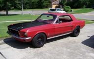 Red And Black Mustang Cars  3 High Resolution Wallpaper