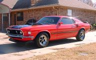 Red And Black Mustang Cars  7 Background Wallpaper