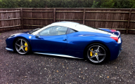 Black And Blue Ferrari 10 Cool Hd Wallpaper