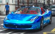 Black And Blue Ferrari 34 Free Hd Wallpaper