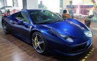 Black And Blue Ferrari 40 Background
