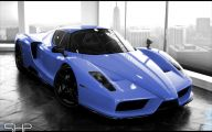 Black And Blue Ferrari 9 Widescreen Wallpaper