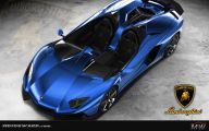 Black And Blue Lamborghini 15 Widescreen Wallpaper