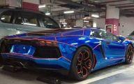 Black And Blue Lamborghini 23 Desktop Wallpaper