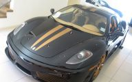 Black And Gold Ferrari 12 Widescreen Wallpaper