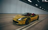 Black And Gold Ferrari 25 Wide Wallpaper