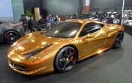 Black And Gold Ferrari 26 Widescreen Wallpaper