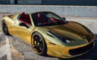 Black And Gold Ferrari 38 Widescreen Wallpaper