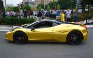 Black And Gold Ferrari 42 Widescreen Wallpaper