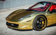 Black And Gold Ferrari 8 Free Hd Wallpaper