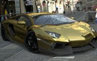 Black And Gold Lamborghini 9 Widescreen Wallpaper