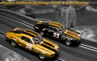 Black And Gold Race Cars 32 Background Wallpaper