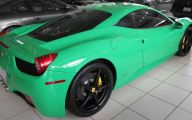 Black And Green Ferrari 11 Background Wallpaper
