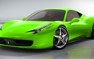 Black And Green Ferrari 18 Desktop Background