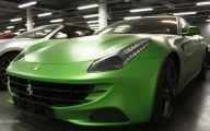 Black And Green Ferrari 2 Background
