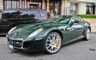 Black And Green Ferrari 27 Widescreen Wallpaper