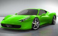 Black And Green Ferrari 6 Desktop Background