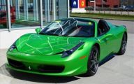 Black And Green Ferrari 8 Desktop Background