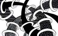 Black And White Abstract Drawings  12 Desktop Background