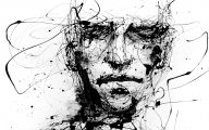 Black And White Abstract Drawings  18 Hd Wallpaper
