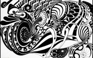 Black And White Abstract Drawings  7 Background