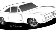 Black And White Car Drawings  12 Background Wallpaper